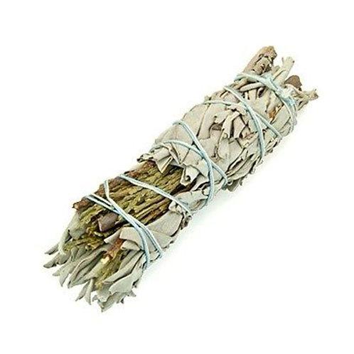 Smudge Stick - White Sage & Cedar - Heal, Strengthen & Protect 10cm