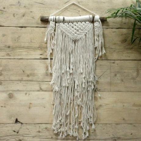 Macrame Wall Hanging - Natural Abundance - Handwoven Cotton Bohemian Tapestry