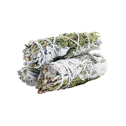Smudge Stick - White Sage & Juniper - New Ventures, New Home, Abundance 10cm