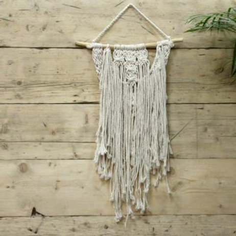 Macrame Wall Hanging - The Wedding Blessing - Handwoven Cotton Bohemian Tapestry