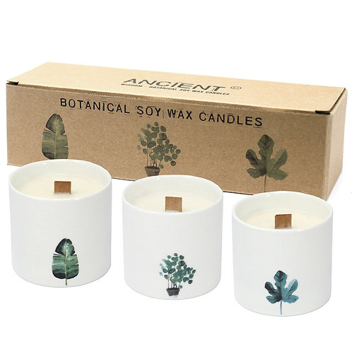 Botanical Candles Wood Wick Natural Soy Wax