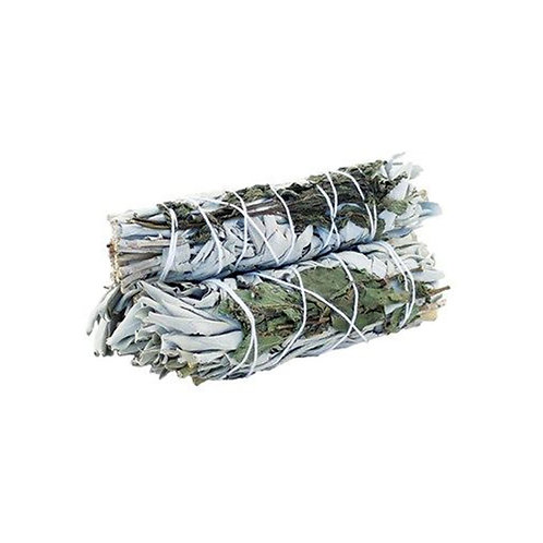 Smudge Stick - White Sage & Rosemary  - Positive Energy & Mood Uplifting 10cm