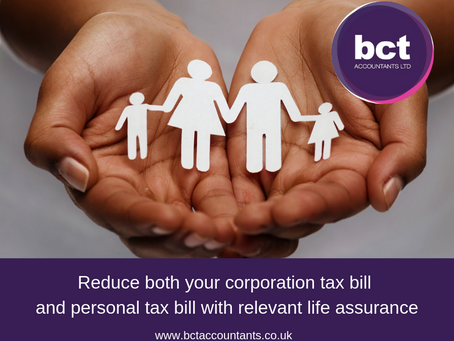 Reduce both your Corporation Tax bill and personal tax bill with relevant life assurance