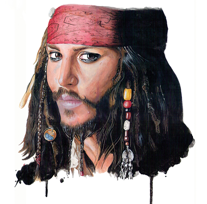 Johnny Deep - Hyper realistic painting