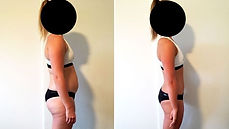 weight loss transfomaton of a personal training client