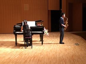 たんば田園交響ホールで生徒と共演