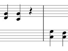 スタッカートで和音を弾く練習(step分け)