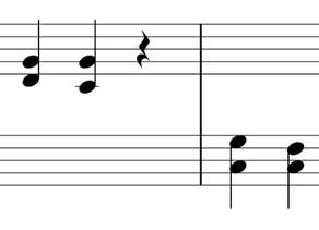 スタッカートで和音を弾く練習