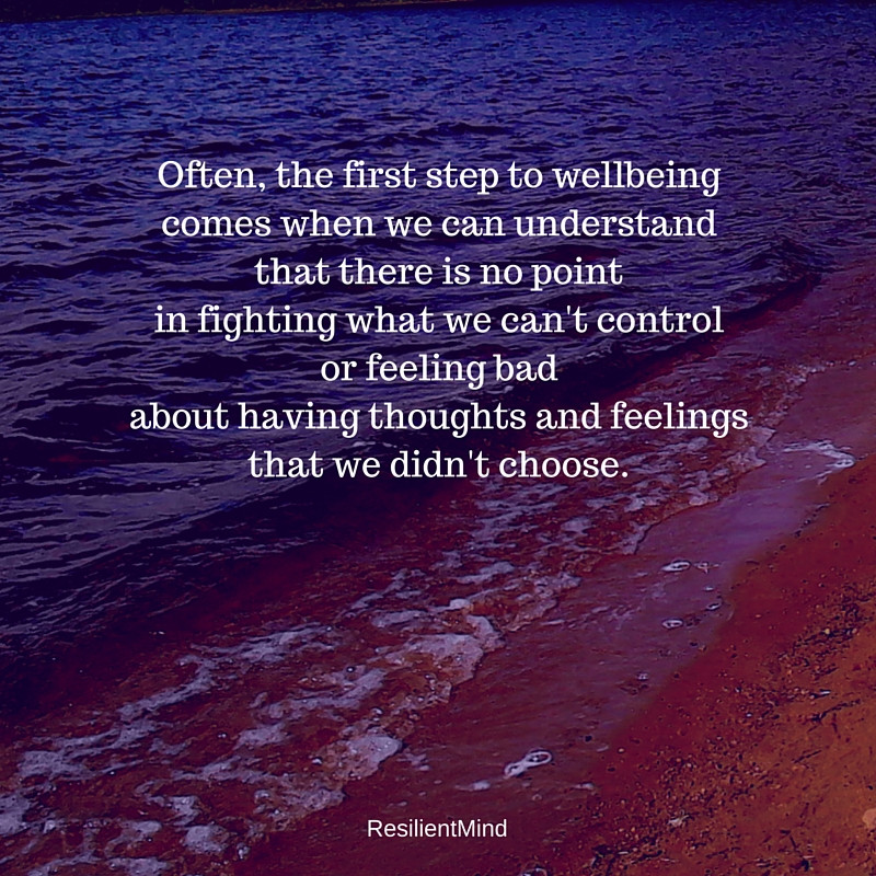 no point fighting feelings