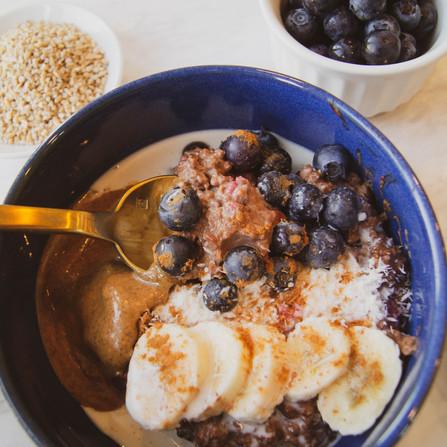 Berry Cocoa Oatmeal