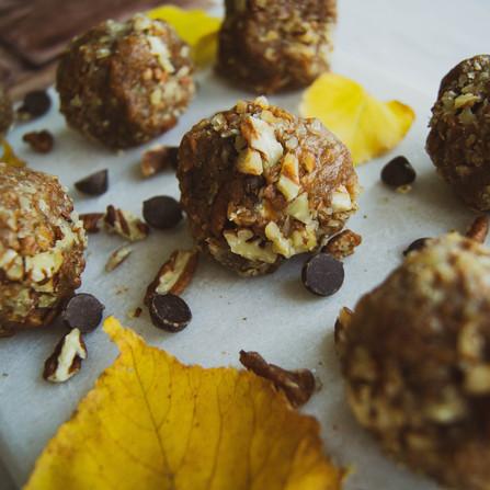 Pumpkin Pecan Date Bites (gluten free & vegan)