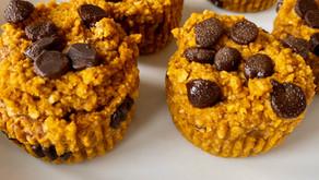 Pumpkin Chocolate Chip Muffins (gf/vegan)