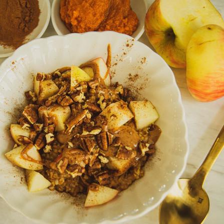 Pumpkin Spice Oatmeal (gluten free)