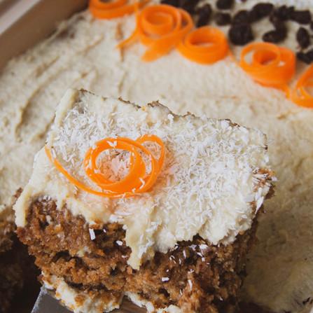 Healthier Carrot Cake (gluten-free)