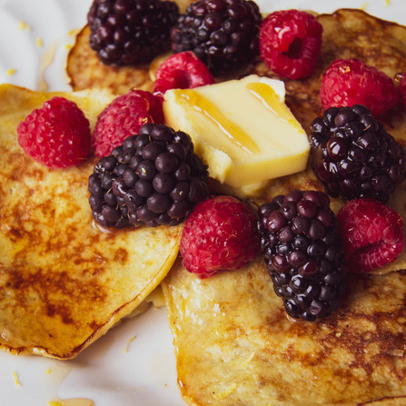 Healthier Lemon Almond Coconut Pancakes (gluten-free)