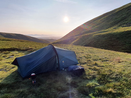 Sharp Edge With Morning Sunrise and wild Camp Scales Tarn (18/09/2020)
