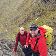 Me and Nick on Striding Edge