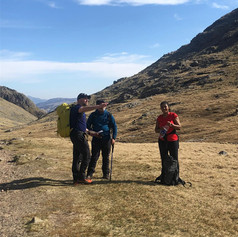 Corridor route up to Scafell Pike