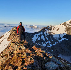 CMD route and Ben Nevis with cloud inversion