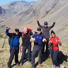 Corridor Route leading group up to Scafell Pike