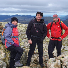 On top of Great End with Tracy & Michael