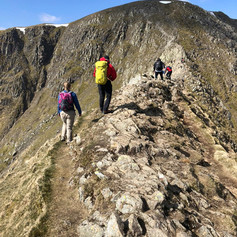 Crossing Striding Edge with Dave & Sam