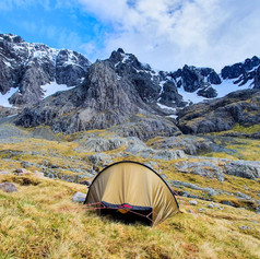 Wild camping at the foot of North Face of Ben Nevis