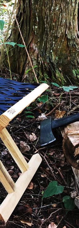 lumberjackschairinwoods