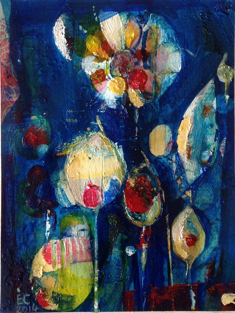 Night garden - SOLD