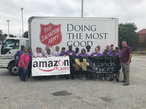 Event at Salvation Army Family Shelter