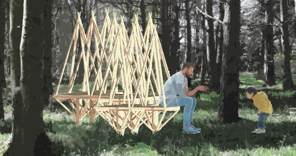 Woodland modular seating render, By Will