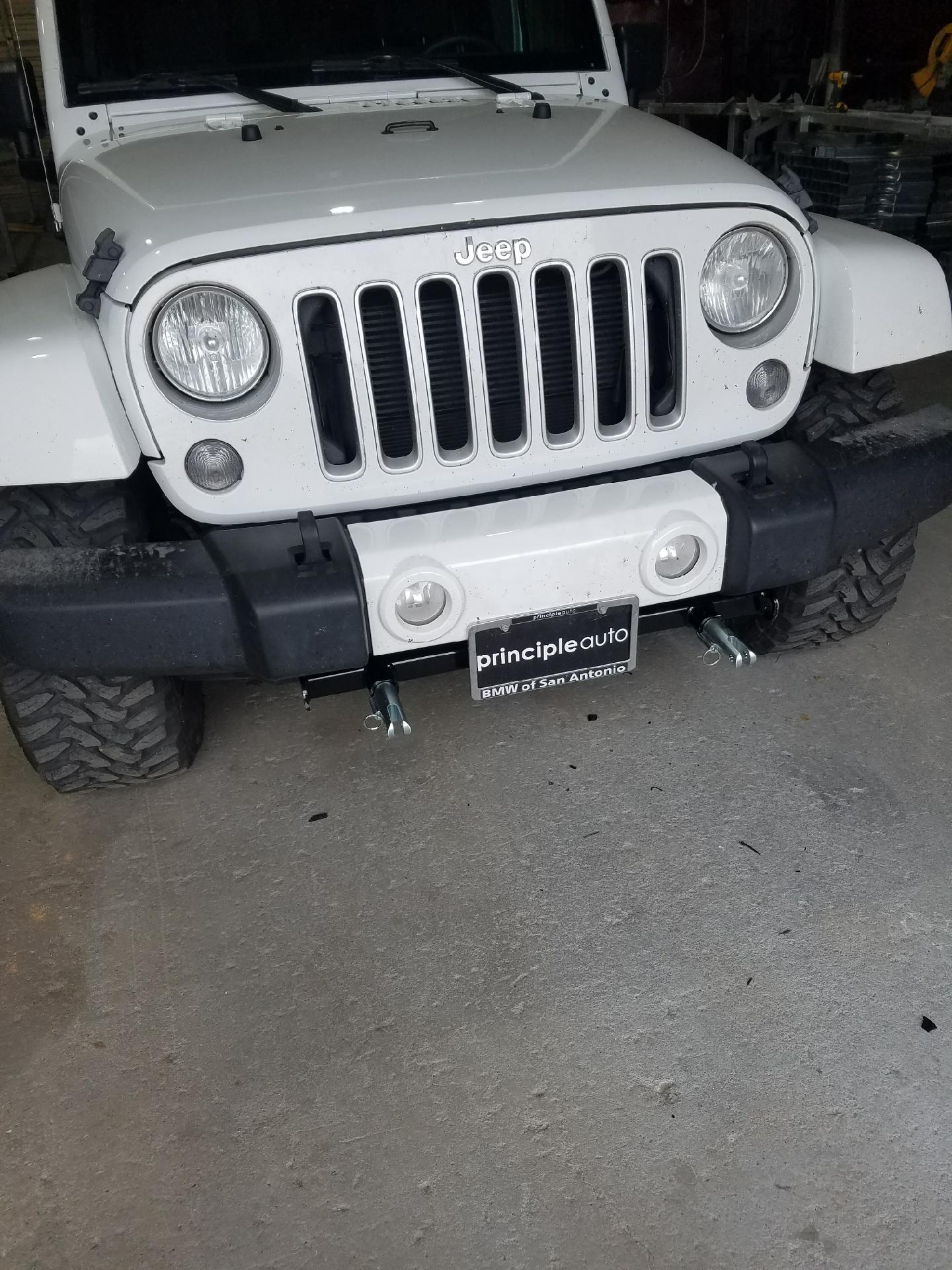 Jeep hook up for an RV.