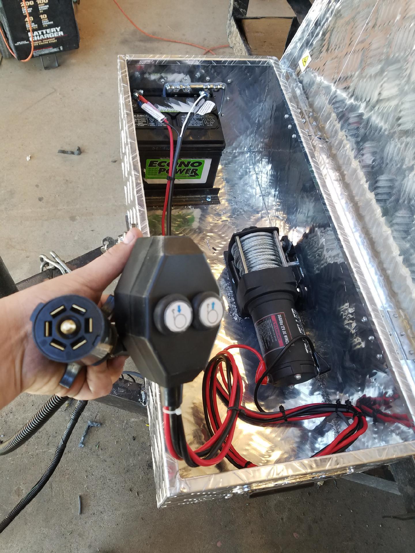 Custom tool box w/ winch.