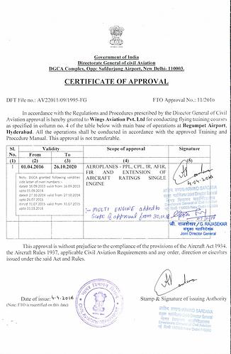 wings approval certificate with multi en