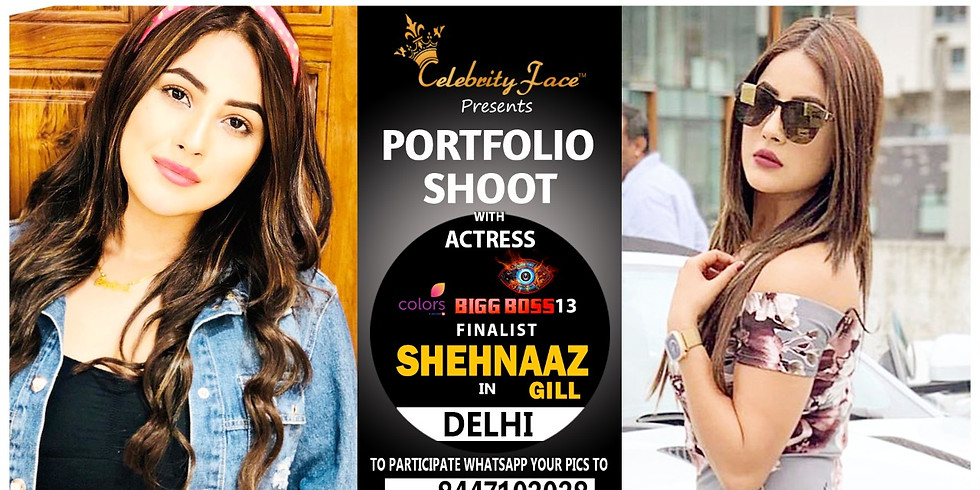 Meet Top Tv Actress  Shehnaaz Gill in Delhi on 21th  March
