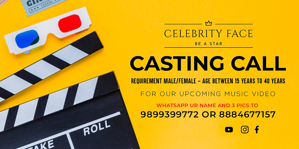 Celebrity Face Casting Call for MUSIC VIDEO