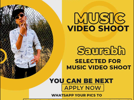 Saurabh is Selected for the Celebrity Face Music Video Shoot.