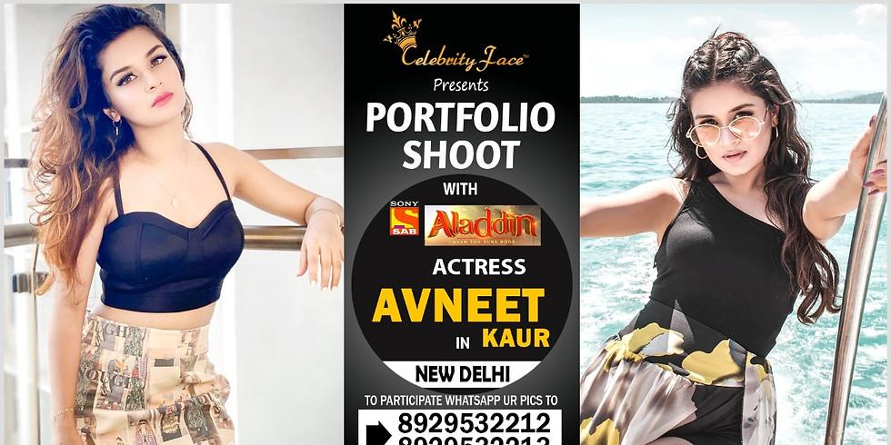 Meet Top Tv Actress  Avneet Kaur  in Delhi on 7th June