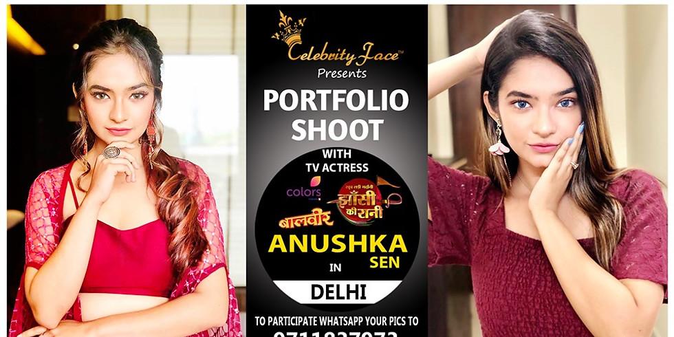 Meet Top Tv Actress Anushka Sen in Delhi on 13th October