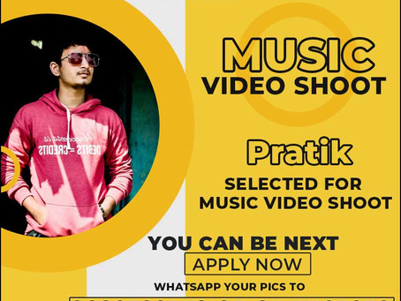 Pratik is Selected for the Celebrity Face Music Video Shoot. Pratik selected for the Celebrity Face