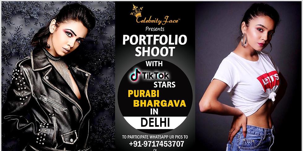 Meet Top Tik Tok Star Purabi Bhargava in New Delhi on 20th July