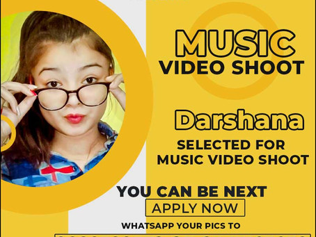 Darshana is Selected for the Celebrity Face Music Video Shoot.