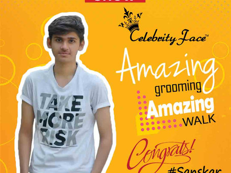 Sanskar is Selected for the Celebrity Face Fashion Show