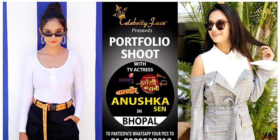 Meet Top Tv Actress Anushka sen in Bhopal on 17th August