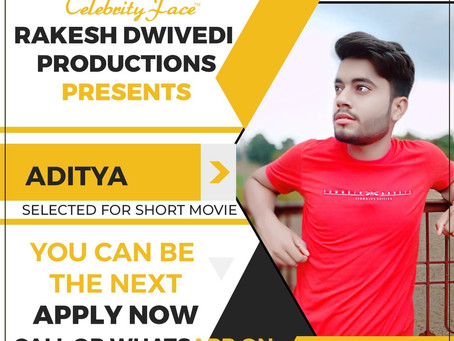 Aditya is Selected for the Celebrity Face Short Video Shoot.