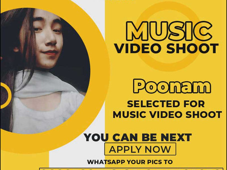 Poonam is Selected for the Celebrity Face Music Video Shoot.