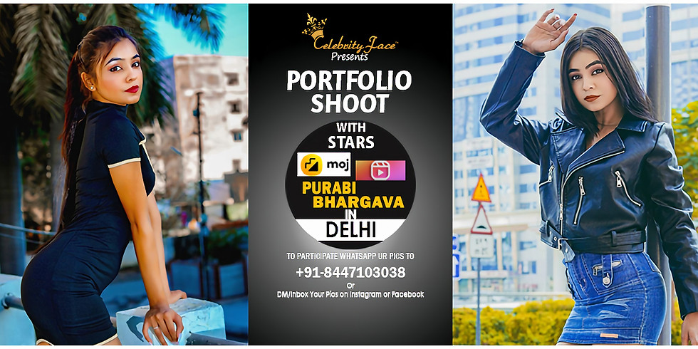 Meet Greet and PhotoShoot with Reels Moj App Star Purabi Bhargava