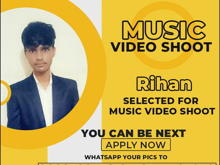 Rihan is Selected for the Celebrity Face Music Video Shoot.