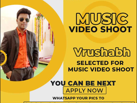 Vrushabh is Selected for the Celebrity Face Music Video Shoot.
