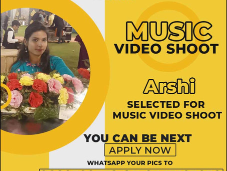 Arshi is Selected for the Celebrity Face Music Video Shoot.